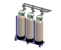 Culligan® HE 1.5 Skid Series Softeners and Water Filters